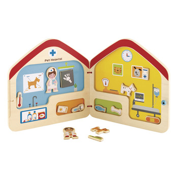 hape visit the vet mgnetic book